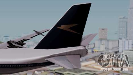 Boeing 747-100 British Overseas Airways para GTA San Andreas traseira esquerda vista