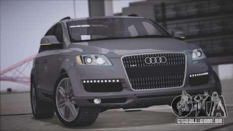Audi Q7 2008 para GTA San Andreas vista interior