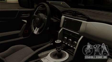 Subaru BRZ 2010 para GTA San Andreas vista direita