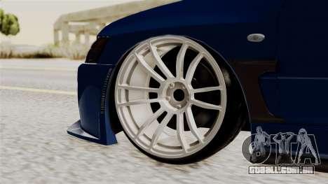 Mitsubishi Lancer Evolution v2 para GTA San Andreas traseira esquerda vista