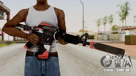 M4A1-S Cyrex para GTA San Andreas terceira tela