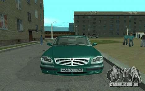 GAZ 31105 Volga para GTA San Andreas vista direita