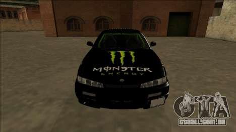 Nissan 200SX Drift Monster Energy Falken para GTA San Andreas vista superior