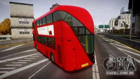 Wrightbus New Routemaster Arriva para GTA 4 traseira esquerda vista