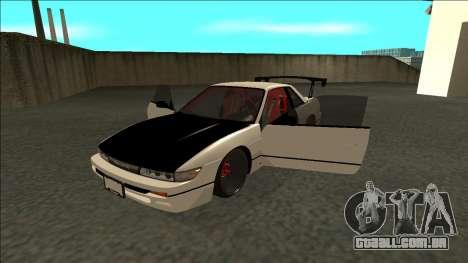 Nissan Silvia S13 Drift para GTA San Andreas vista traseira