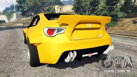 GTA 5 Toyota GT-86 Rocket Bunny traseira vista lateral esquerda