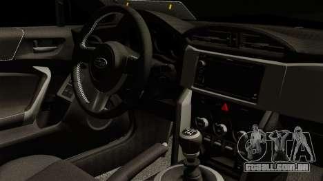 Subaru BRZ 2010 Rocket Bunny v1 para GTA San Andreas vista direita