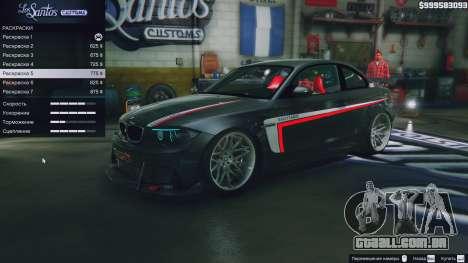 GTA 5 BMW 1M v1.0 vista de cima