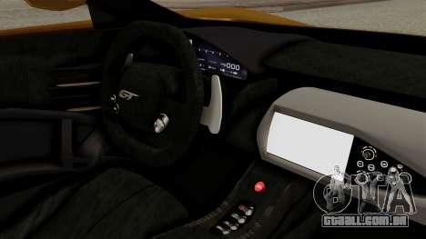 Ford GT 2016 Black Revel para GTA San Andreas traseira esquerda vista