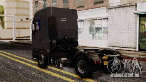 Iveco EuroStar Normal Cab para GTA San Andreas esquerda vista