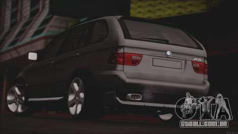 BMW X5 E53 para GTA San Andreas vista direita