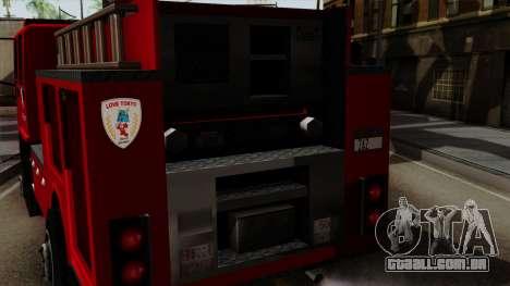 DFT-30 Tokyo Fire Department Pumper para GTA San Andreas vista direita