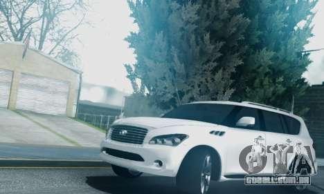 Infiniti QX56 Final para GTA San Andreas