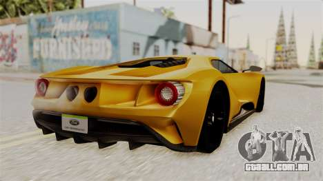Ford GT 2016 Black Revel para GTA San Andreas esquerda vista