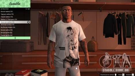 Franklin Hip Hop T-Shirts para GTA 5