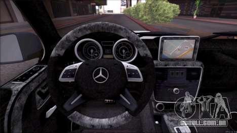 Mercedes Benz G65 AMG 2015 Topcar Tuning para o motor de GTA San Andreas