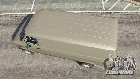 GTA 5 Chevrolet G20 Van voltar vista