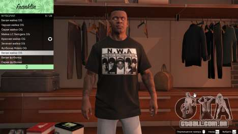 GTA 5 Franklin Hip Hop T-Shirts oitmo screenshot