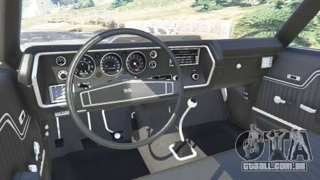 GTA 5 Chevrolet Chevelle SS 1970 v1.0 frente vista lateral direita