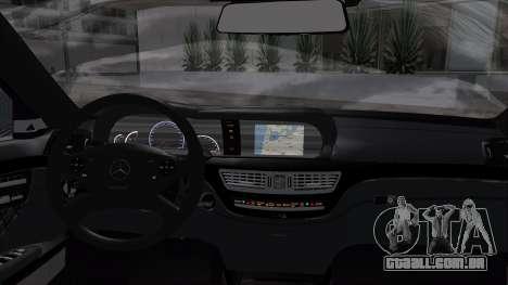 Mercedes-Benz W221 para GTA San Andreas traseira esquerda vista
