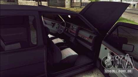 Volkswagen Golf Mk2 Line para GTA San Andreas vista interior