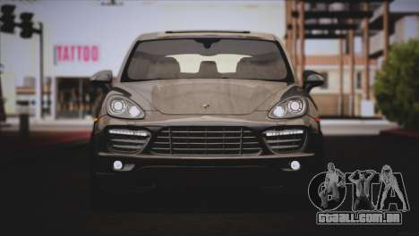 Porsche Cayenne Turbo 2012 para vista lateral GTA San Andreas