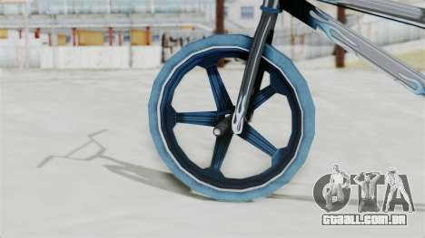 Custom Bike from Bully para GTA San Andreas traseira esquerda vista