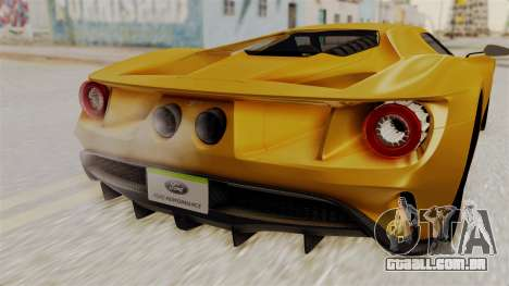 Ford GT 2016 Black Revel para GTA San Andreas vista direita