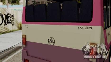 BAZ A079.07-padrão para GTA San Andreas traseira esquerda vista