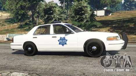 GTA 5 Ford Crown Victoria 1999 Police v0.9 vista lateral esquerda