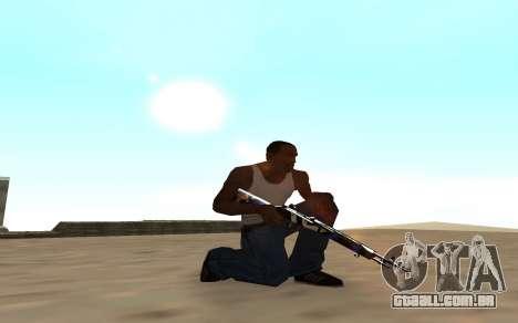Rifle com um filhote de tigre para GTA San Andreas segunda tela