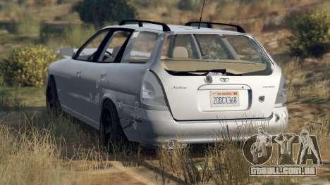 Roda GTA 5 Daewoo Nubira eu Vagão-NOS DE 1999 - versão FINA