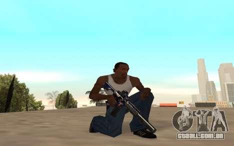M4 c filhote para GTA San Andreas quinto tela