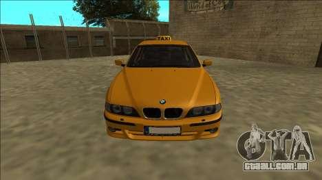 1999 BMW 530d E39 Taxi para GTA San Andreas vista direita