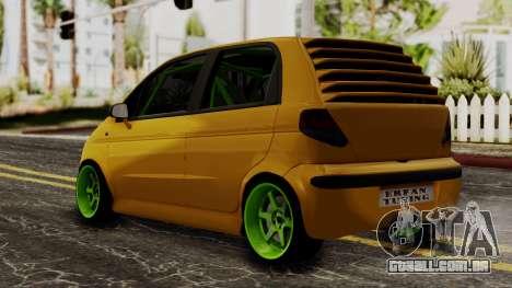 Daewoo Matiz Tuning para GTA San Andreas esquerda vista