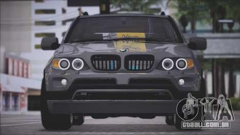 BMW X5 E53 para GTA San Andreas vista traseira