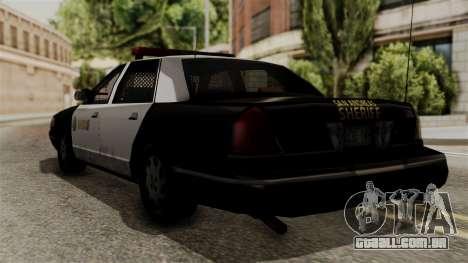 Ford Crown Victoria LP v2 Sheriff para GTA San Andreas esquerda vista