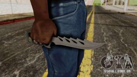 A faca para GTA San Andreas terceira tela