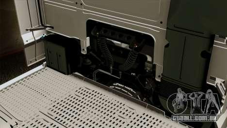 DAF XF Euro 6 SSC para GTA San Andreas vista interior