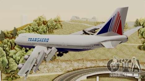 Boeing 747 TransAero para GTA San Andreas esquerda vista