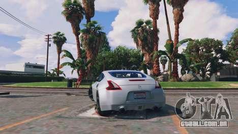 GTA 5 Nissan 370z traseira vista lateral esquerda