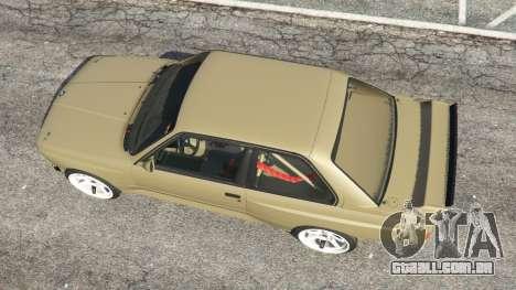 GTA 5 BMW M3 (E30) 1991 Drift Edition v1.0 voltar vista