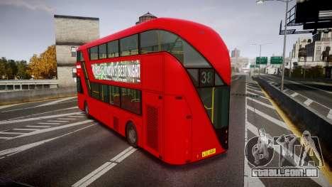 Wrightbus New Routemaster Metroline para GTA 4 traseira esquerda vista