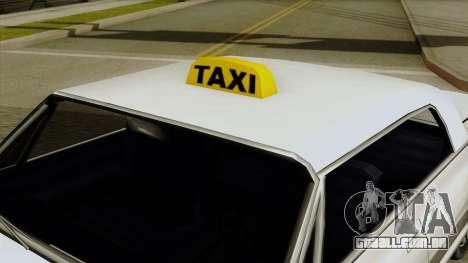 Taxi-Savanna para GTA San Andreas vista direita