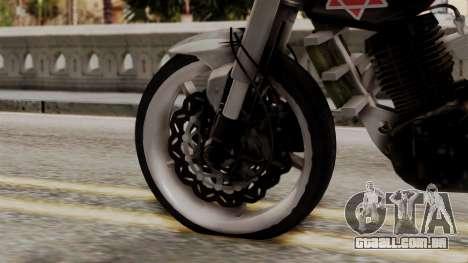 Byson Street Fighter para GTA San Andreas traseira esquerda vista