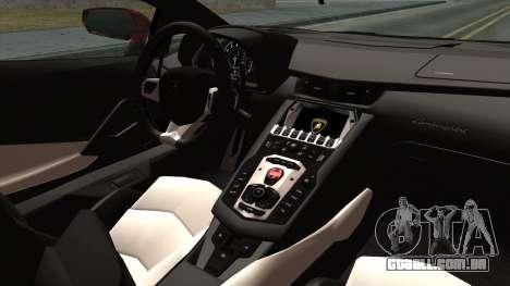 Lamborghini Aventador LP-700 Batik para GTA San Andreas vista direita