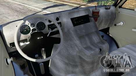 GTA 5 Chevrolet G20 Van traseira direita vista lateral