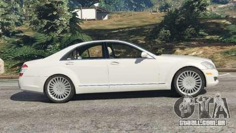 GTA 5 Mercedes-Benz S550 W221 v0.5 [Alpha] vista lateral esquerda