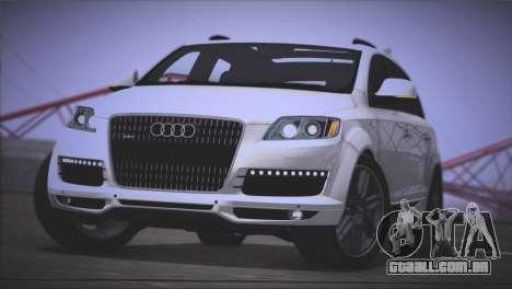 Audi Q7 2008 para GTA San Andreas traseira esquerda vista