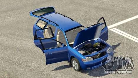 GTA 5 Daewoo Nubira eu Vagão-NOS DE 1999 - versão FINA traseira direita vista lateral